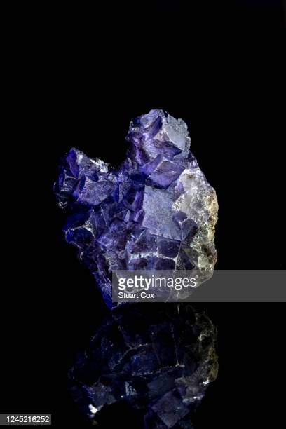 purple fluroite crystals from china. - fluorite stock pictures, royalty-free photos & images