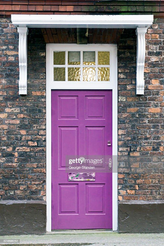 Purple Front Door Stock Photo Getty Images