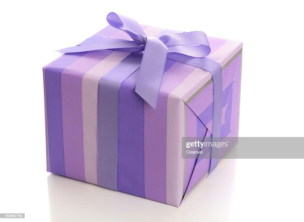 Purple gift box with ribbon stock photo getty images purple gift box with ribbon stock photo negle Choice Image