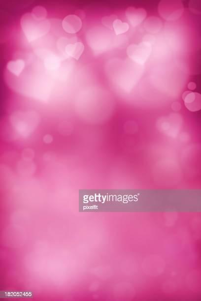 En forma de corazón púrpura brillante