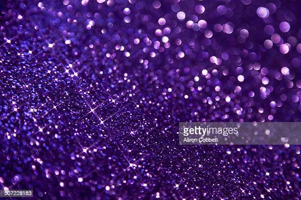Purple glitter large