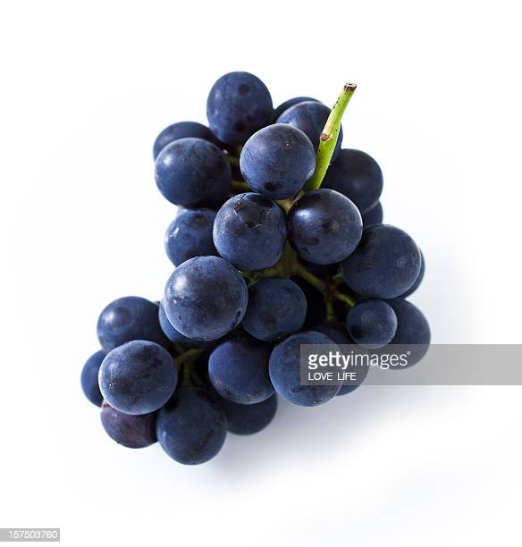Purple grapes isolated on white background