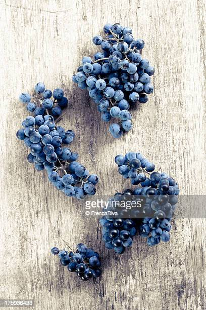 Purple grapes.