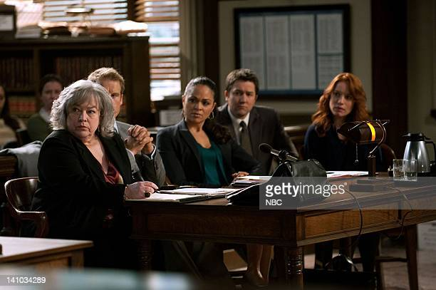 S LAW Purple Hearts Episode 210 Pictured Kathy Bates as Harriet Harry Korn Mark Valley as Oliver Richard Karen Olivo as Cassie Reynolds Josh Braaten...