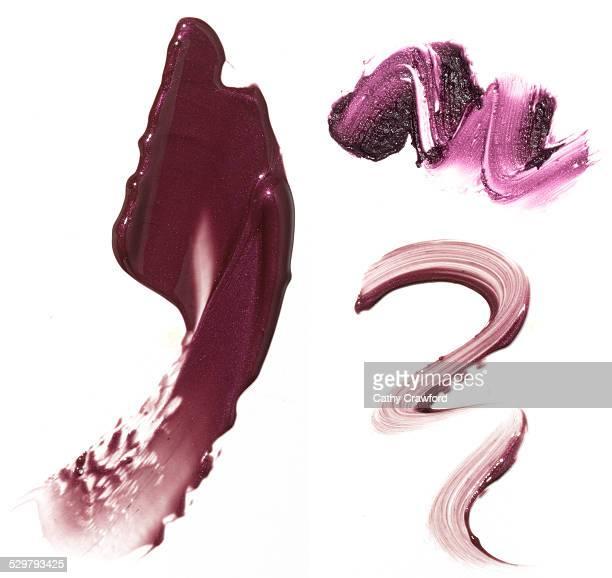 purple lipstick smears