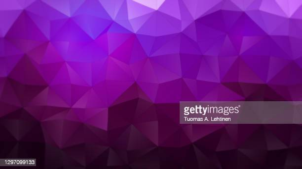 purple, magenta and burgundy red polygon vector pattern background. - triangle shape stock pictures, royalty-free photos & images