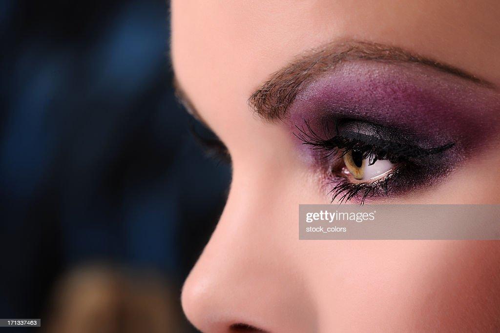 purple makeup : Stock Photo