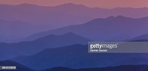 purple mountains - clingman's dome fotografías e imágenes de stock