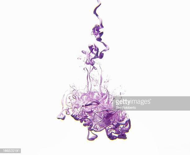 Purple paint in water.
