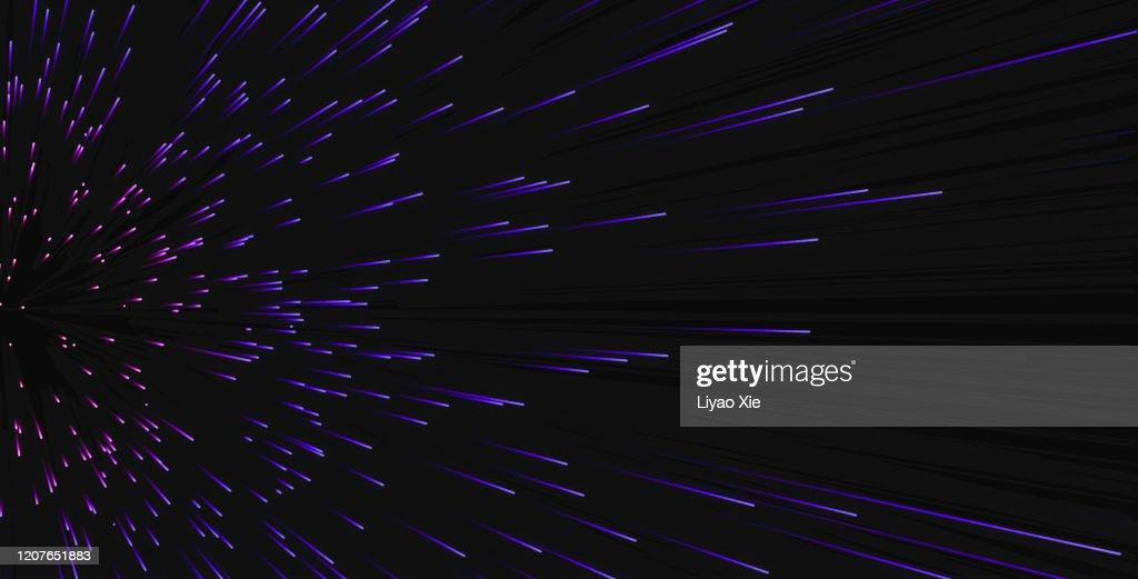 Purple particle patterns : Stock Photo
