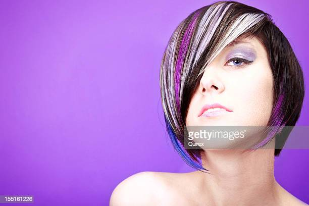 purple passion - hair colourant stock pictures, royalty-free photos & images
