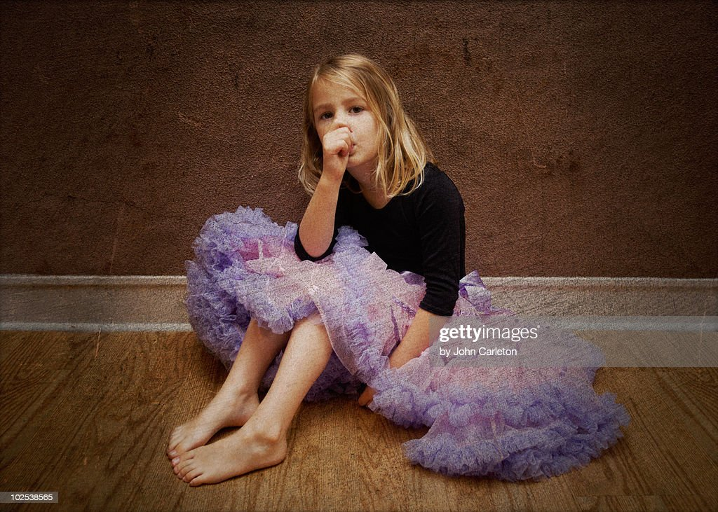 Purple pettiskirt girl : Stock Photo