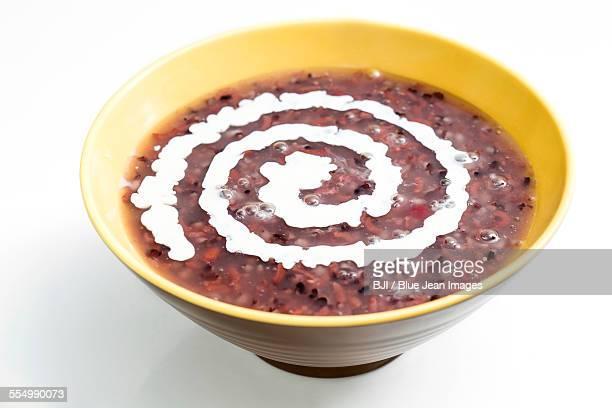 Purple rice porridge