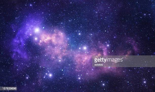 purple space stars - nebula stock pictures, royalty-free photos & images