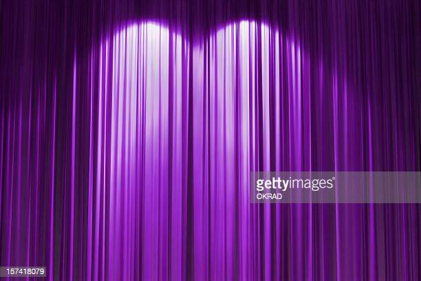 purple stage curtain wallpaper background. - stage curtain stock pictures, royalty-free photos & images
