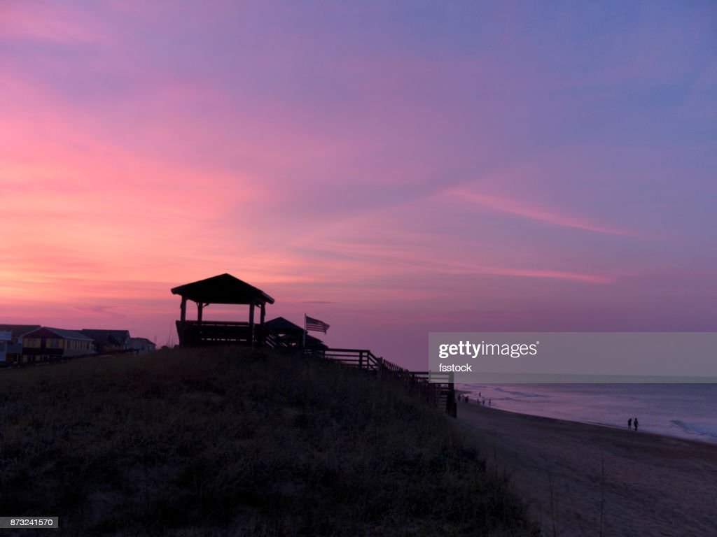 Purple Sunset On The Outer Banks High Res Stock Photo Getty Images