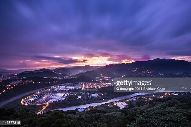Purple tone sunrise