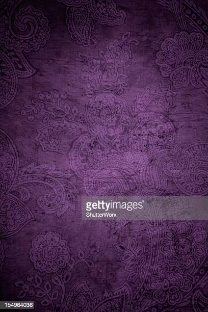 Purple Victorian Paisley Background