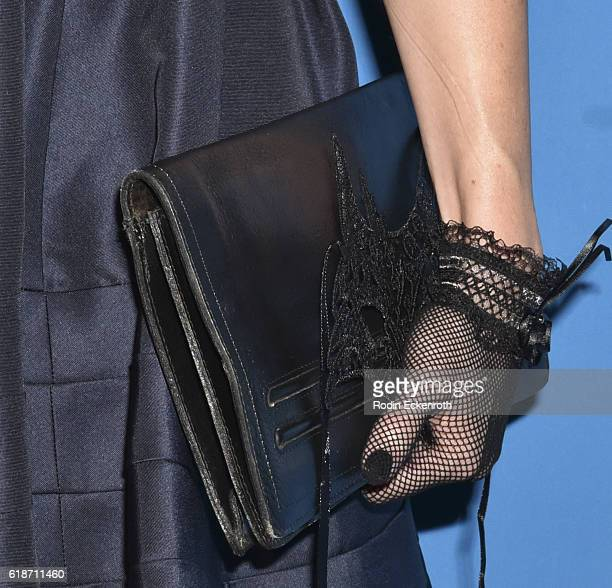Purse detail actress Alison Haislip attends 4th Annual UNICEF Masquerade Ball at Clifton's Cafeteria on October 27 2016 in Los Angeles California