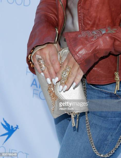 Purse detail on singer/songwriter Anastacia during Project Angel Food's 2017 Angel Awards on August 19 2017 in Los Angeles California