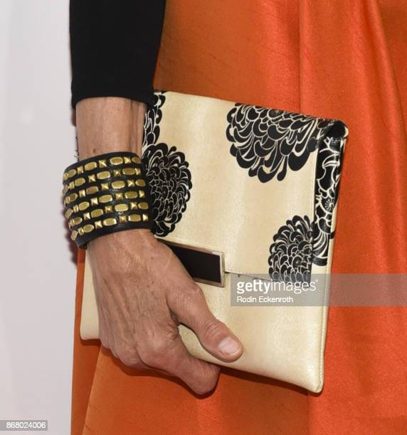 Purse fashion detail actress Wendie Malick attends the 3rd Annual Carney Awards at The Broad Stage on October 29 2017 in Santa Monica California