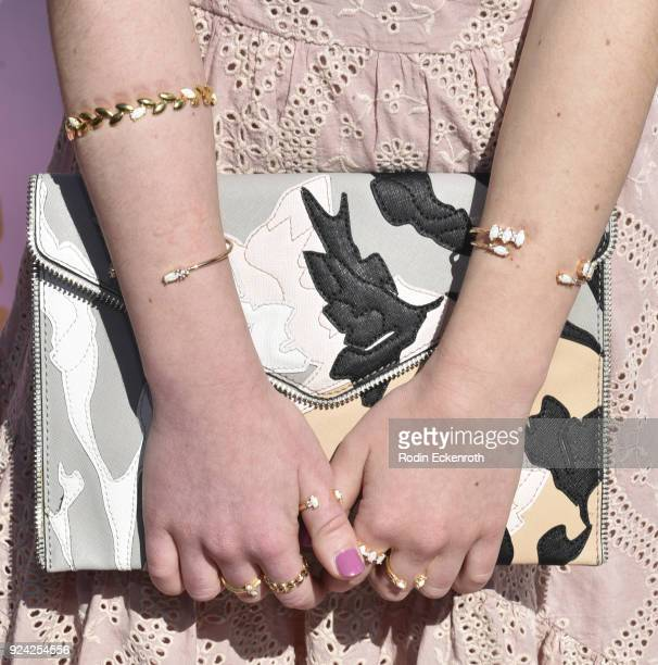 Purse fashion detail Ava Cantrell attends BRAVO'S 'Stripped' TV Personality and Celebrity Fashion Stylist Expert Ali Levine's Pink Carpet Baby Shower...