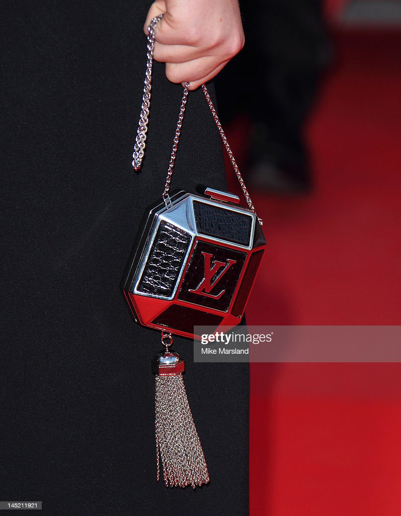 Purse held by Kate Upton attending the 'On The Road' premiere during the 65th Annual Cannes Film Festival at Palais des Festivals on May 23, 2012 in Cannes, France.