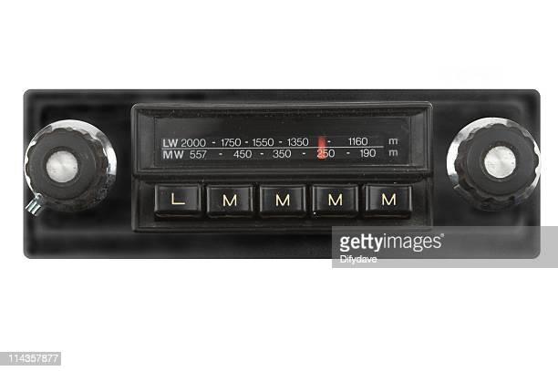 Empurre o botão de rádio de carro da década de 1960