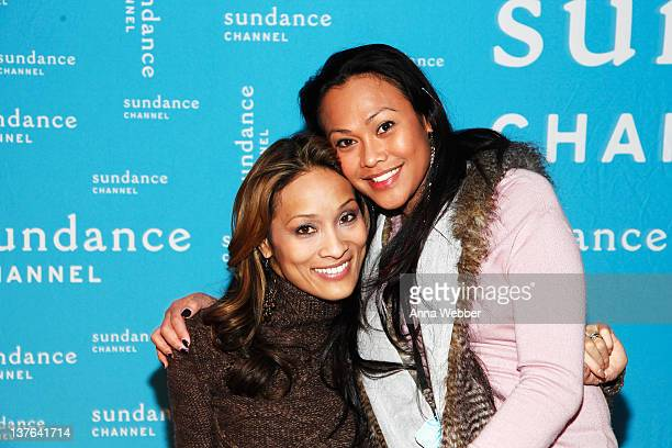 Push Girls Angela Rockwood and actress Cassandra Hepburn attend the Sundance Channel Party at 268 Main St on January 23 2012 in Park City Utah