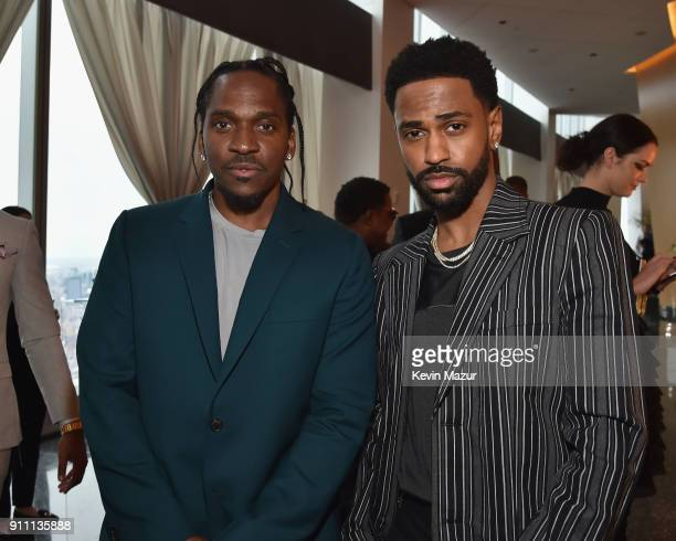 Pusha T and Big Sean attend Roc Nation THE BRUNCH at One World Observatory on January 27 2018 in New York City