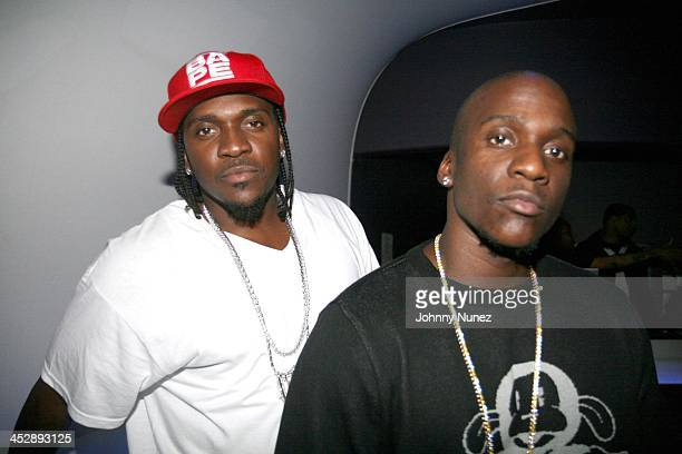 Pusha T and Malice during Clipse Hell Hath No Fury Album Release Party at Bed in New York City, New York, United States.