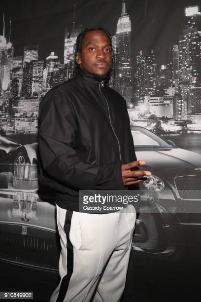 Pusha T attends Def Jam's PreGRAMMY Celebration Presented by Patron Tequila with Parajumpers Puma Saucey and Heineken at the Garage on January 26...