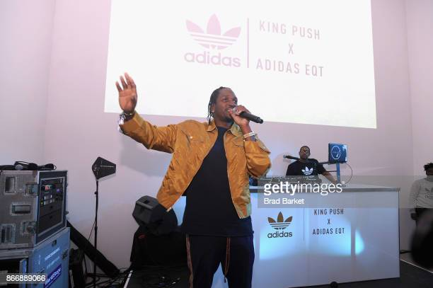Pusha T attends the Launch Of Pusha T's Latest Collaboration With adidas Originals KING PUSH X ADIDAS ORIGINALS EQT 'BODEGA BABIES' on October 26...