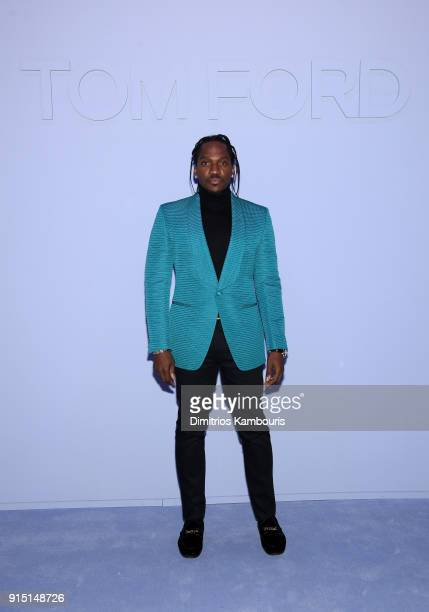 Pusha T attends the Tom Ford Fall/Winter 2018 Men's Runway Show at the Park Avenue Armory on February 6 2018 in New York City