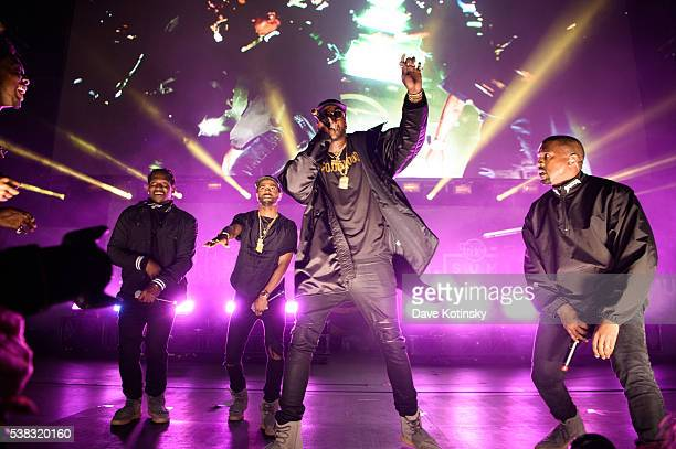 Pusha T Big Sean 2 Chainz Kanye West perform at the 2016 Hot 97 Summer Jam at MetLife Stadium on June 5 2016 in East Rutherford New Jersey