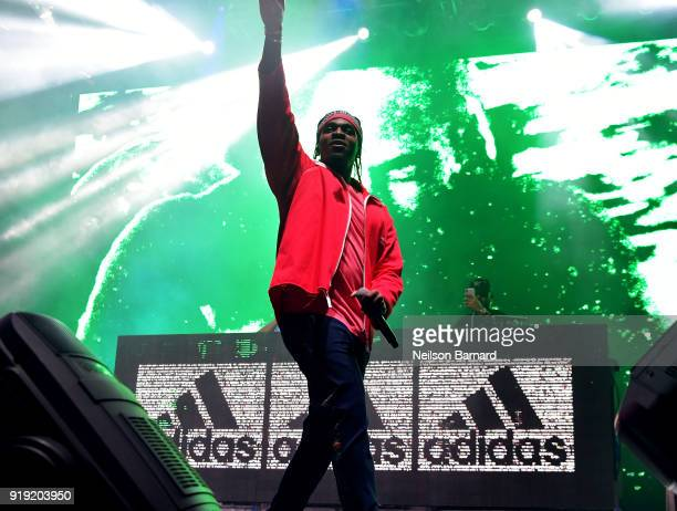 Pusha T during adidas Creates 747 Warehouse St an event in basketball culture on February 16 2018 in Los Angeles California