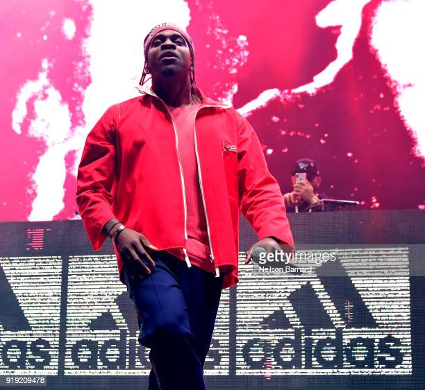 Pusha T performs onstage during adidas Creates 747 Warehouse St an event in basketball culture on February 16 2018 in Los Angeles California