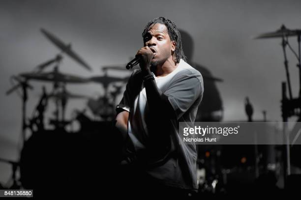 Pusha T performs onstage with the Gorillaz during the Meadows Music and Arts Festival Day 2 at Citi Field on September 16 2017 in New York City
