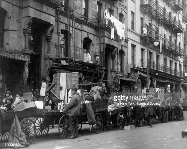 Pushcart Vendors 'Ghetto' Lower East Side New York New York 1920s