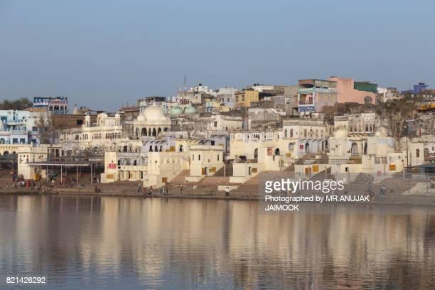 Pushkar city at Rajasthan, India