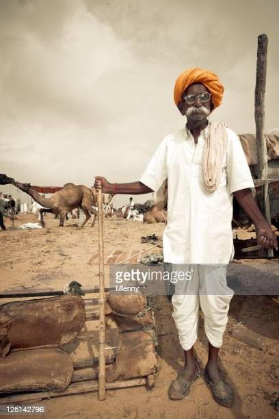 Pushkar Fair Indian Camel Market India Real People Portrait Series