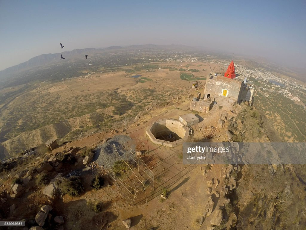 Pushkar Mountain Temple : Stock Photo