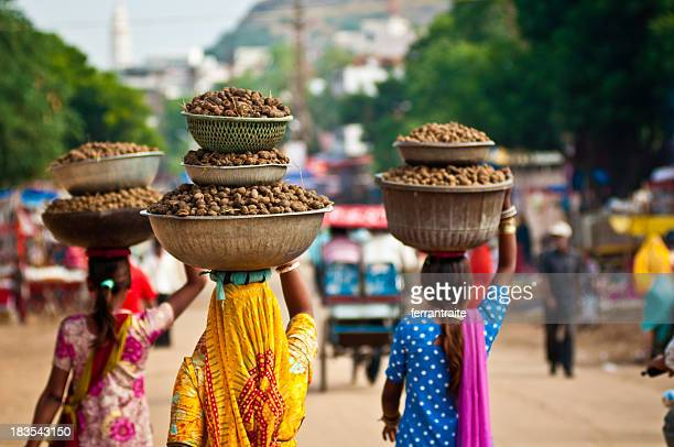 pushkar street scene - india stock pictures, royalty-free photos & images