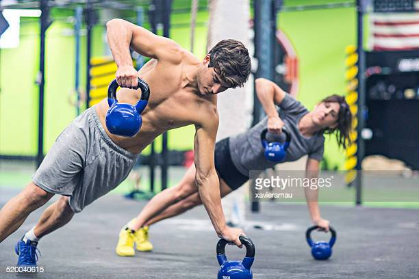 pushups - circuit training stock photos and pictures