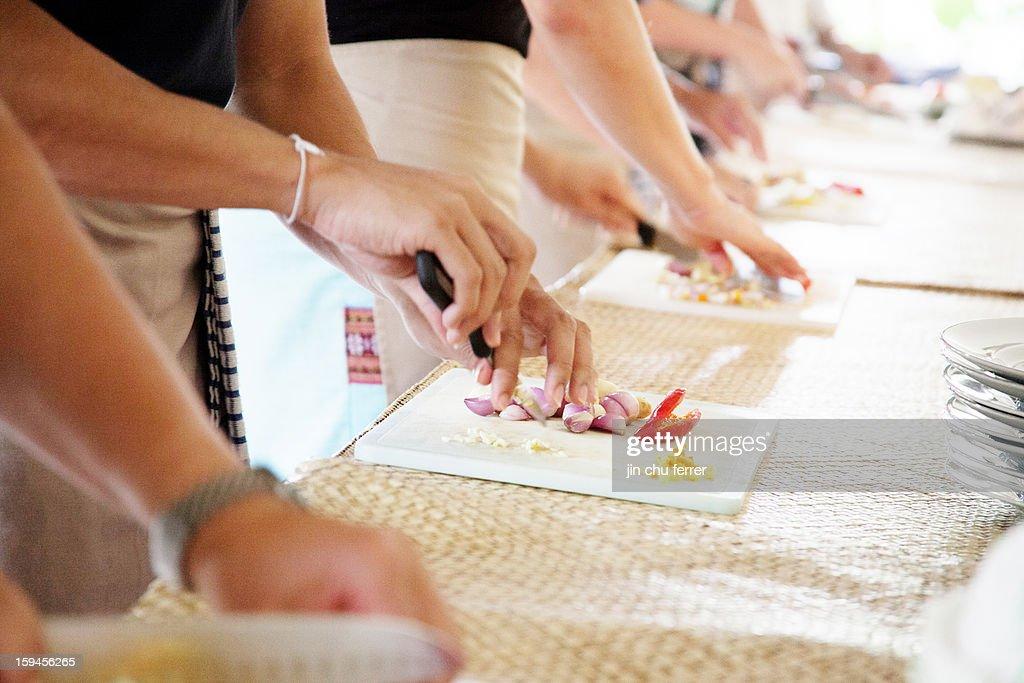 Puspa's Cooking Class in Ubud, Bali, Indonesia. : Stock Photo