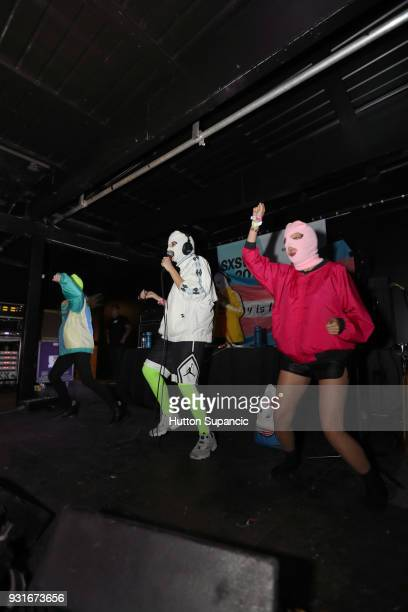 Pussy Riot performs onstage at the Music Opening Party during SXSW at The Main on March 13 2018 in Austin Texas