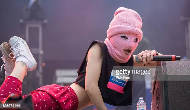 Pussy Riot performs onstage during Day for Night festival on December 16 2017 in Houston Texas