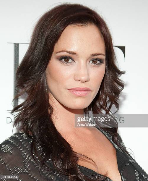 Pussycat Doll Jessica Sutta arrives at Susan G Komen's 8th Annual Fashion For The Cure at Smashbox West Hollywood on September 24 2009 in West...