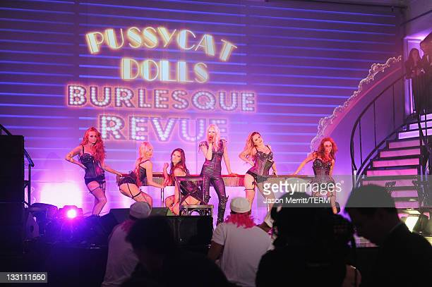 Pussycat Dolls Burlesque Revue performs onstage the 5th Annual Rock The Kasbah Gala in Support of Virgin Unite and The Eve Branson Foundation at...