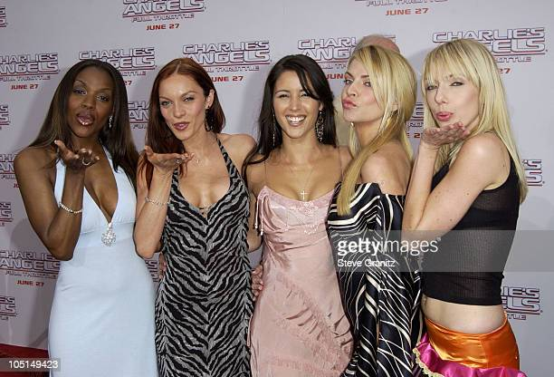 """Pussycat Dolls during """"Charlie's Angels 2 - Full Throttle"""" Premiere at Mann's Chinese Theater in Hollywood, California, United States."""
